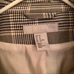 H&M Jackets & Coats - H&M Single-breasted Plaid Blazer